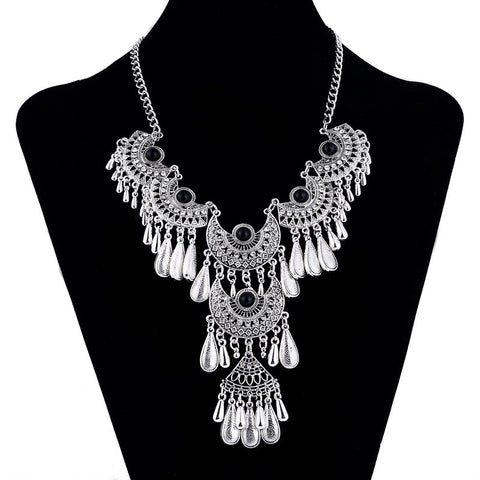 Teardrop Crystal Necklace - 786shop4you