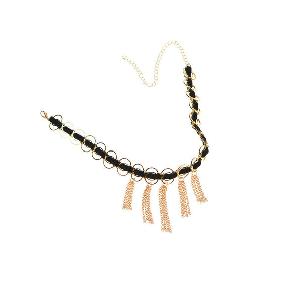 Velvet Choker Tassel Necklace DLT