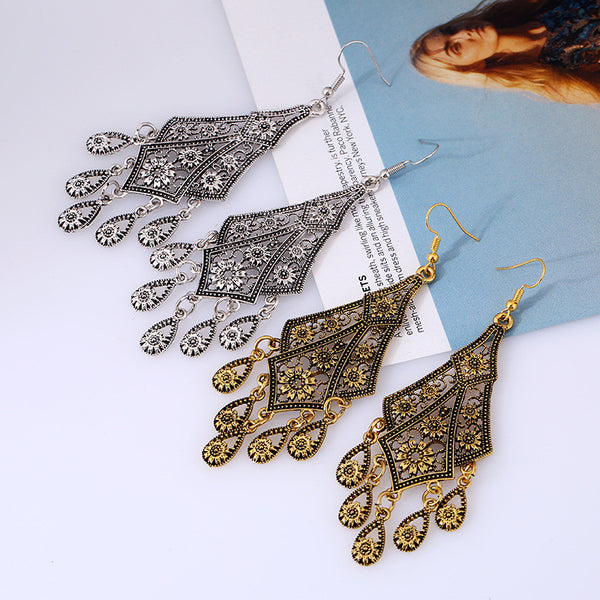 Flower Teardrop Earring - 786shop4you
