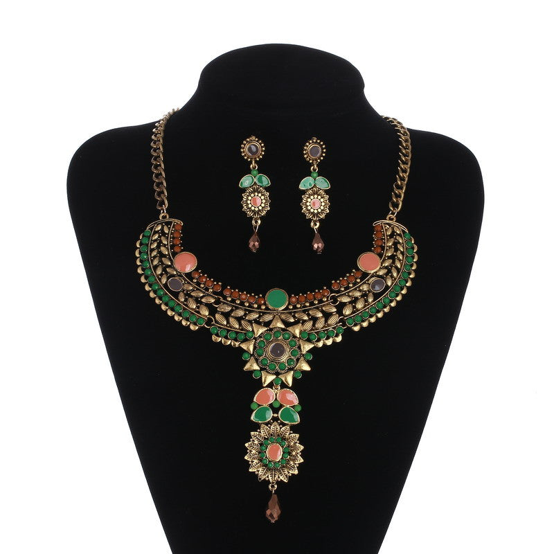 Blossom Flower Necklace Set DLT - 786shop4you