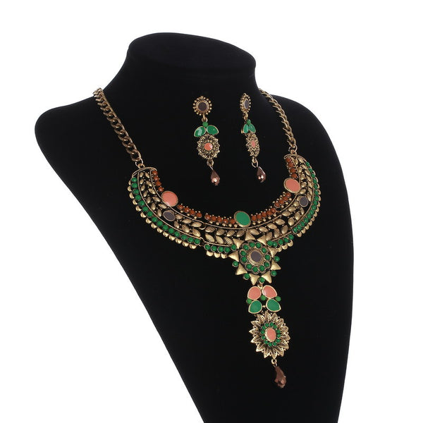 Blossom Flower Necklace Set - 786shop4you
