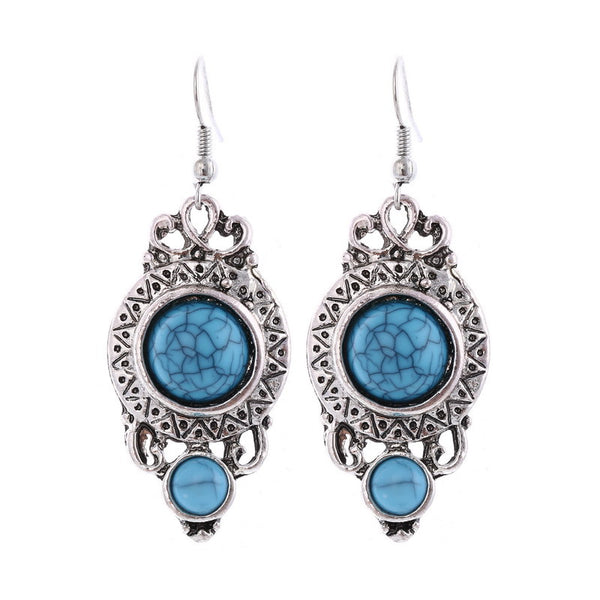 Turquoise Beads Yazz Drop Earring DLT