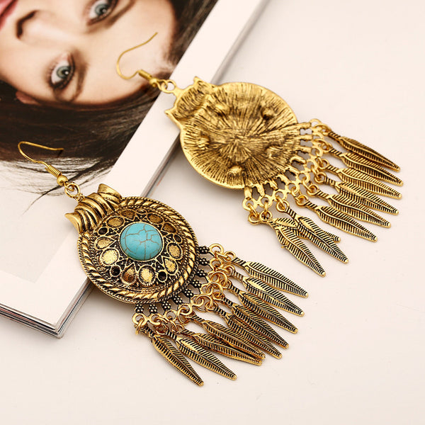 Egyptian Tassel Bohemian Drop Earring