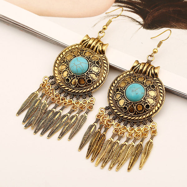 Egyptian Tassel Bohemian Drop Earring DLT - 786shop4you