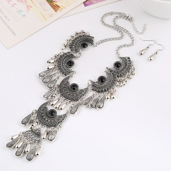 Laxxell Tassel Necklace Set LB