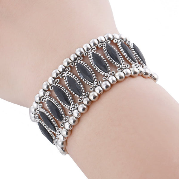 Demz Black Beads Adjustable Bracelet LB - 786shop4you