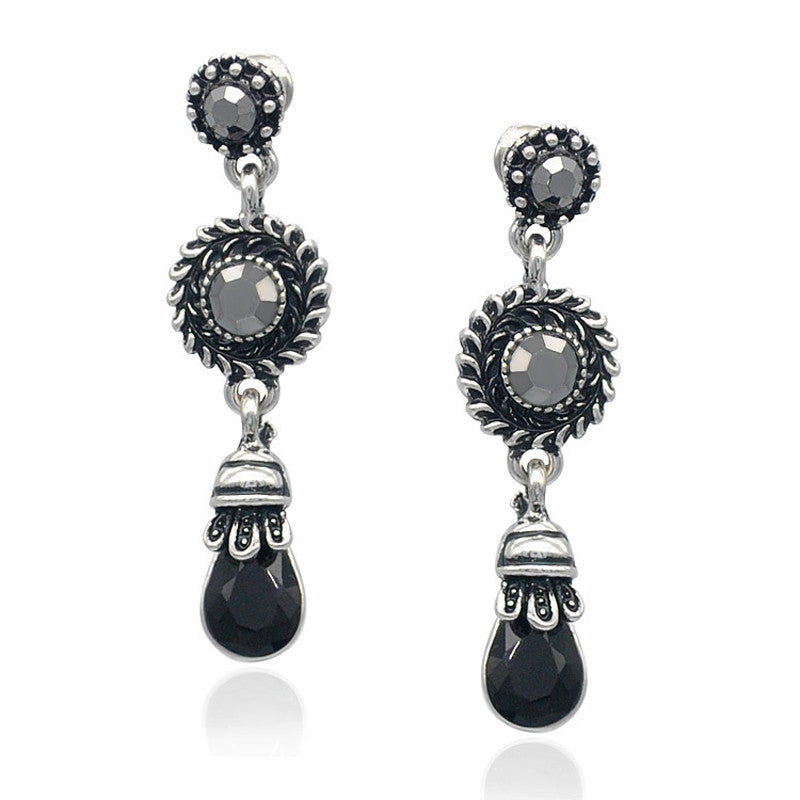 Cazzel Drop Crystal Long Earring LB - 786shop4you
