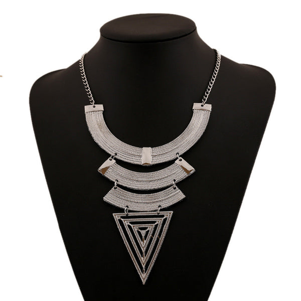 Triangle Multi Layer Necklace - 786shop4you