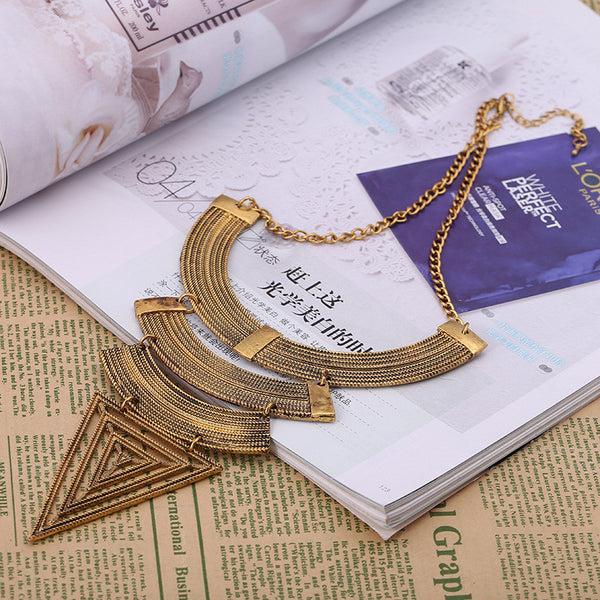 Triangle 4 Layer Necklace