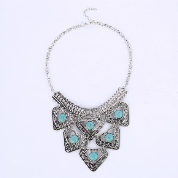 Arooz Turquoise Beads Necklace - 786shop4you