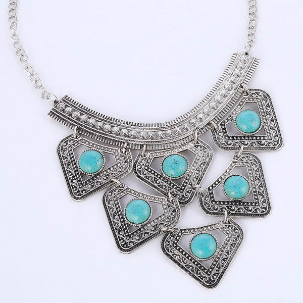 Zix  Arooz Turquoise Beads Necklace LB