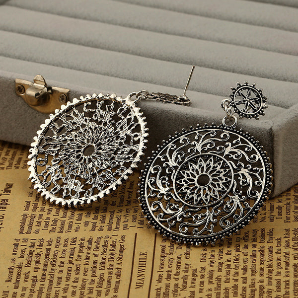 Antique Silver Plated Stud Earring