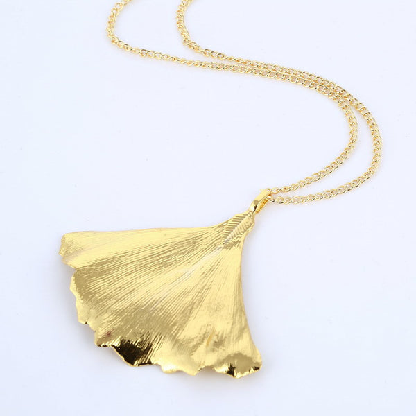 Gold Natural Leaf Necklace - 786shop4you