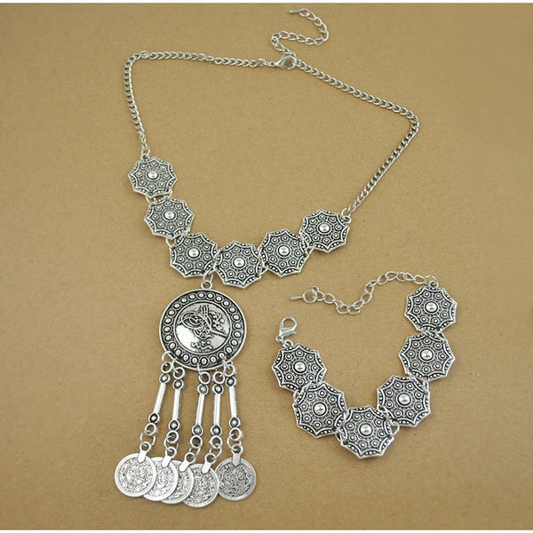 Vazel Vintage Necklace Bracelet Set DLT