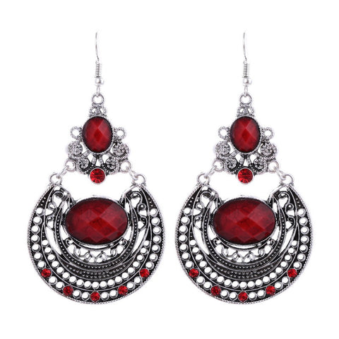 Indian Crystal Drop Earring - 786shop4you