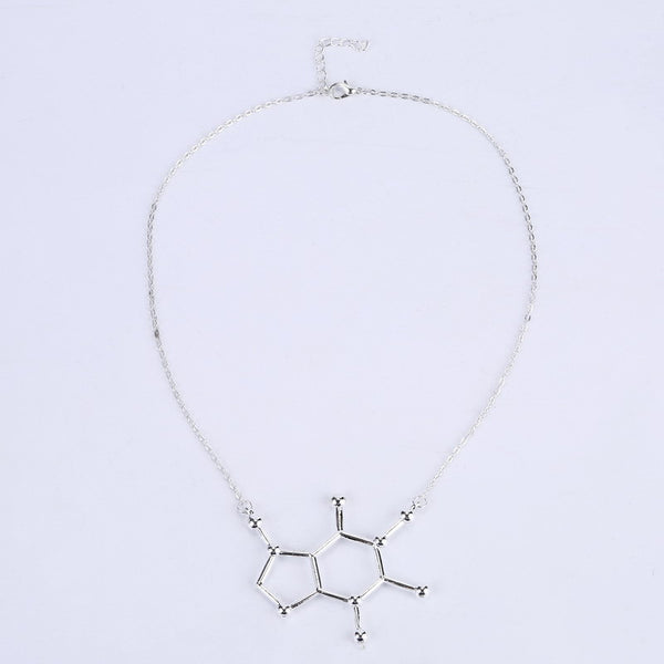 CZ Chemistry Silver 5-ht Pendant Necklace DLT - 786shop4you