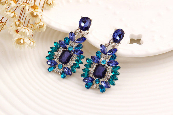 Crystal ZX Crazz Flower Dangle Earring DLT - 786shop4you