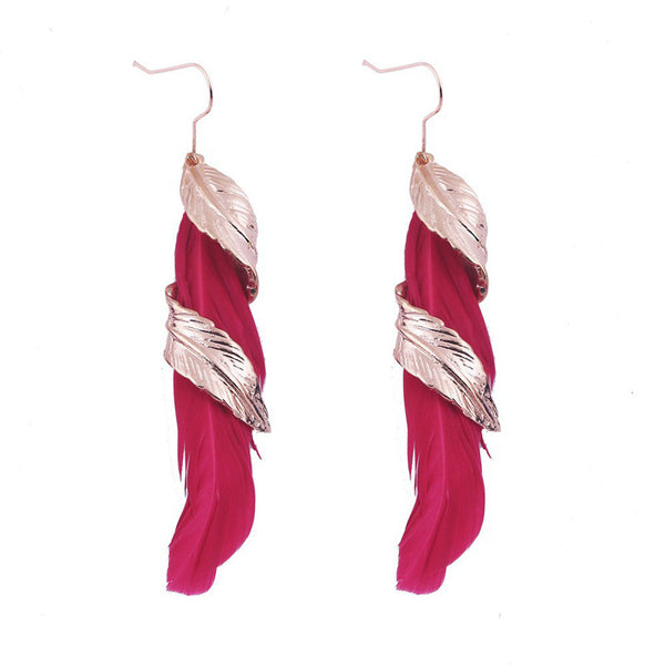 sTyle Leaf Feather Earring LB