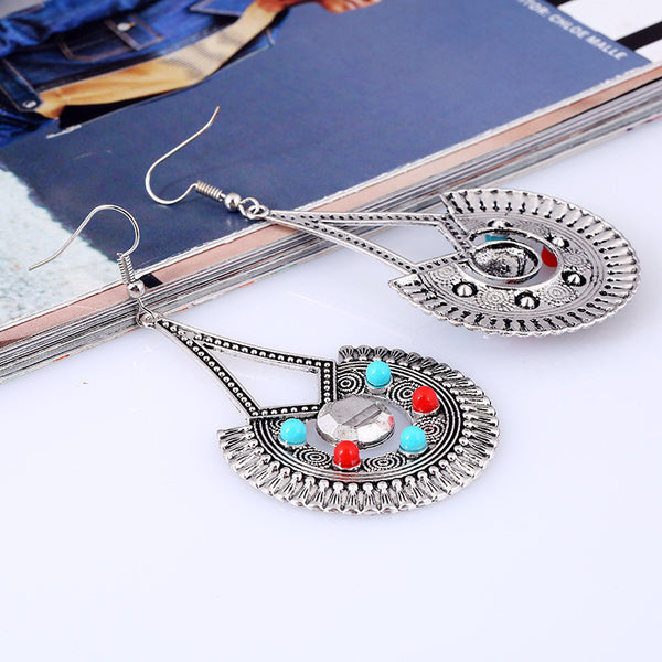 Vintage Trangle Bohemian Long Dangle Drop Earring
