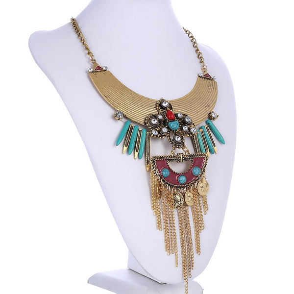 Kolye Enamel Vintage C1 Tassel Necklace LB - 786shop4you