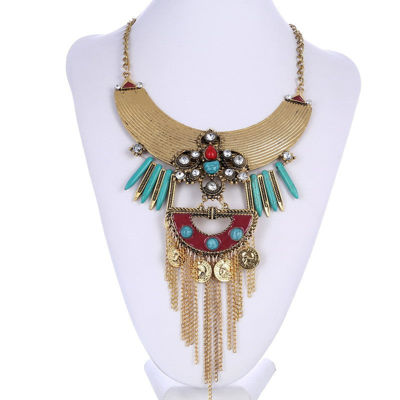 Statement Vintage Tassel Necklace - 786shop4you
