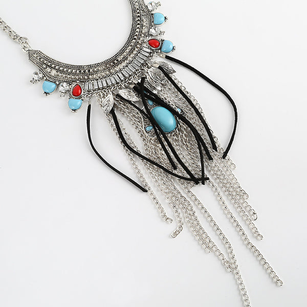 Lace Crystal Gypsy Necklace - 786shop4you
