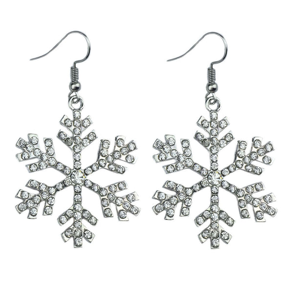 Snowflake Drop Earring - 786shop4you