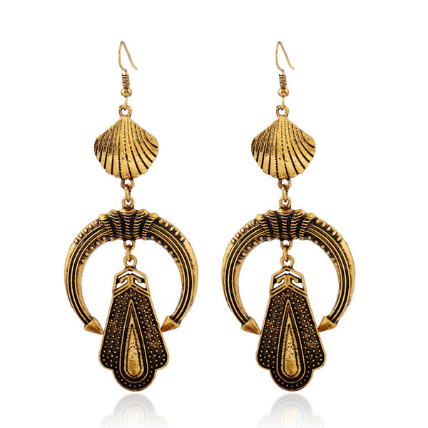 Bohemian Moon Long Drop Earring LB - 786shop4you