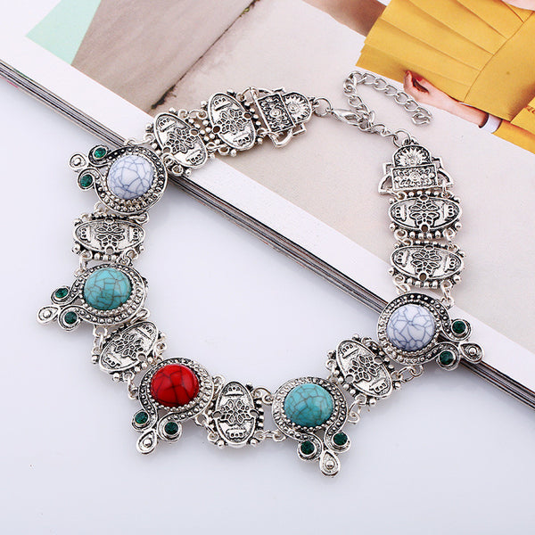 Ethnic Stone Necklace - 786shop4you