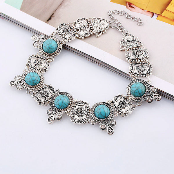 Ethnic stone Necklace LB - 786shop4you