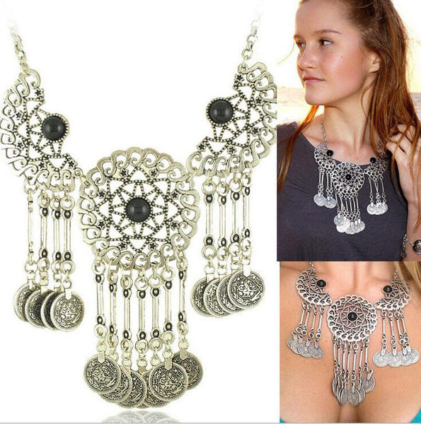 Tassel Eye Coin Necklace - 786shop4you