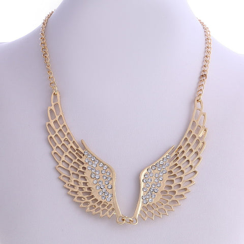 Angel Wing Gold Necklace DLT - 786shop4you