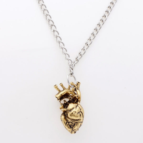 Heart Beat Antique Pendant Necklace - 786shop4you