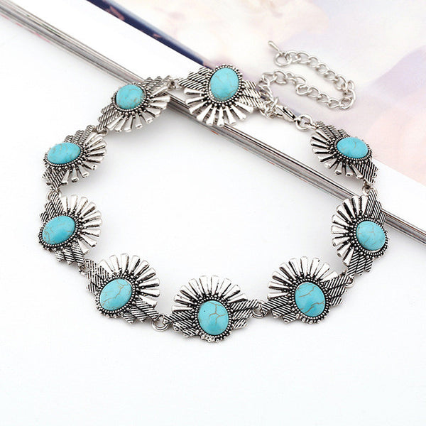 Turquoise eYeLash Necklace LB