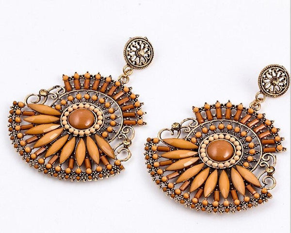 Drizzled Flowers Earring DLT - 786shop4you