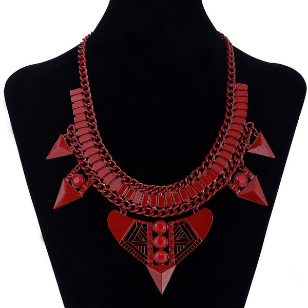 Wonderful Red Arrows Enamel Necklace DLT