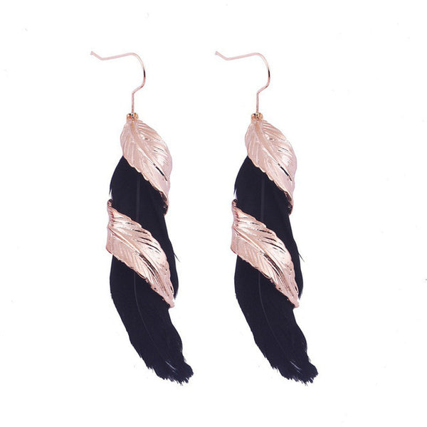 Feather Leaf Twist Earring - 786shop4you