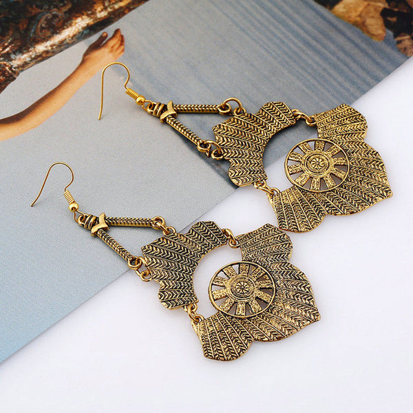 V2 Vintage Long Bohemian Crystal Drop Earring LB