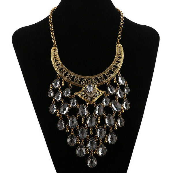 Silver Gold Peacock Necklace DLT