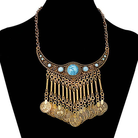 Gold Turkish Tassel Necklace - 786shop4you