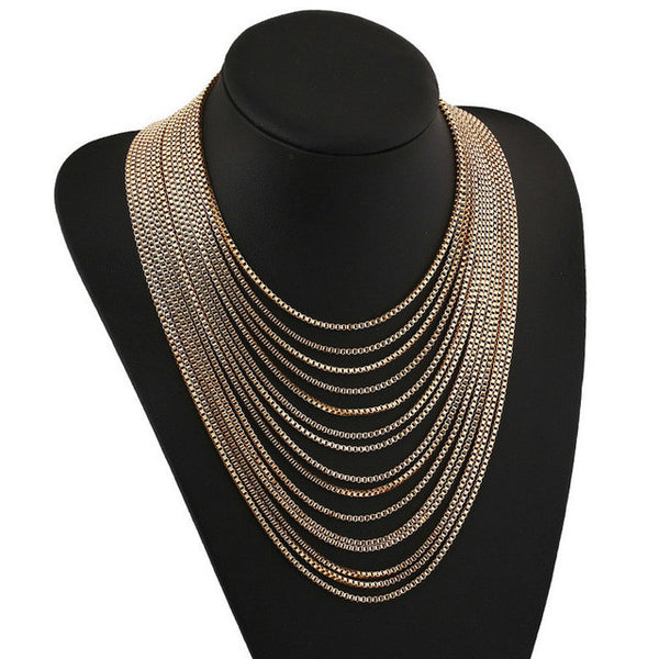 Wezz  Multilayer Chain Necklace LB