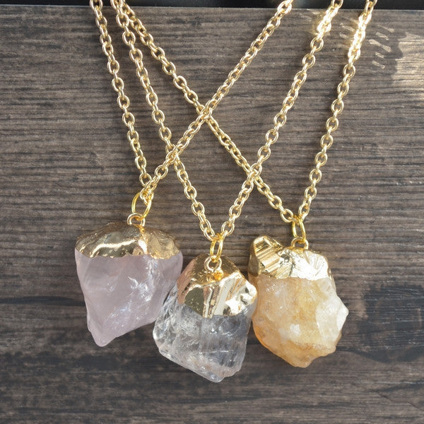 Zaz Natural Energy Stone Necklace