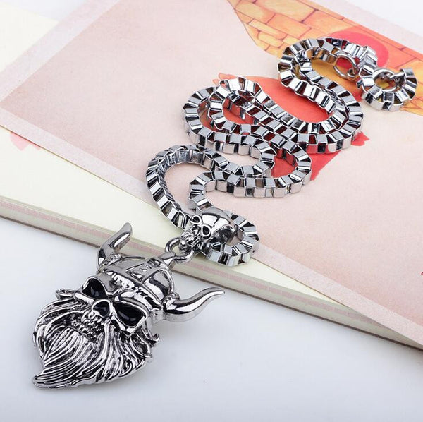 Viking Skull Pendant Necklace - 786shop4you
