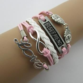 Faith Believe Love Multilayer Leather Bracelet - 786shop4you