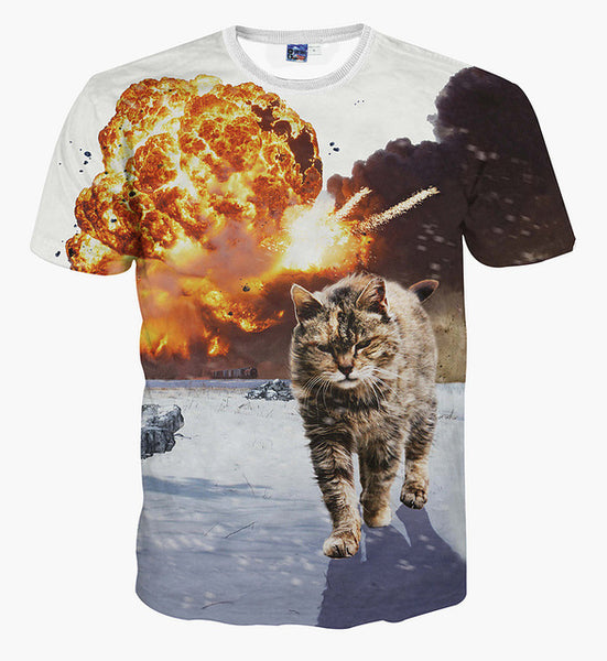Men's 3D Summer Short Sleeve T-shirt CBDL