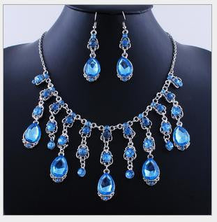 Tassel Rain Drop Necklace Set - 786shop4you