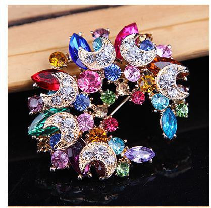Big Flower cute Crystal Brooch Fashion Rhinestone Pin Jewelry Jewellery 403101480 - 786shop4you
