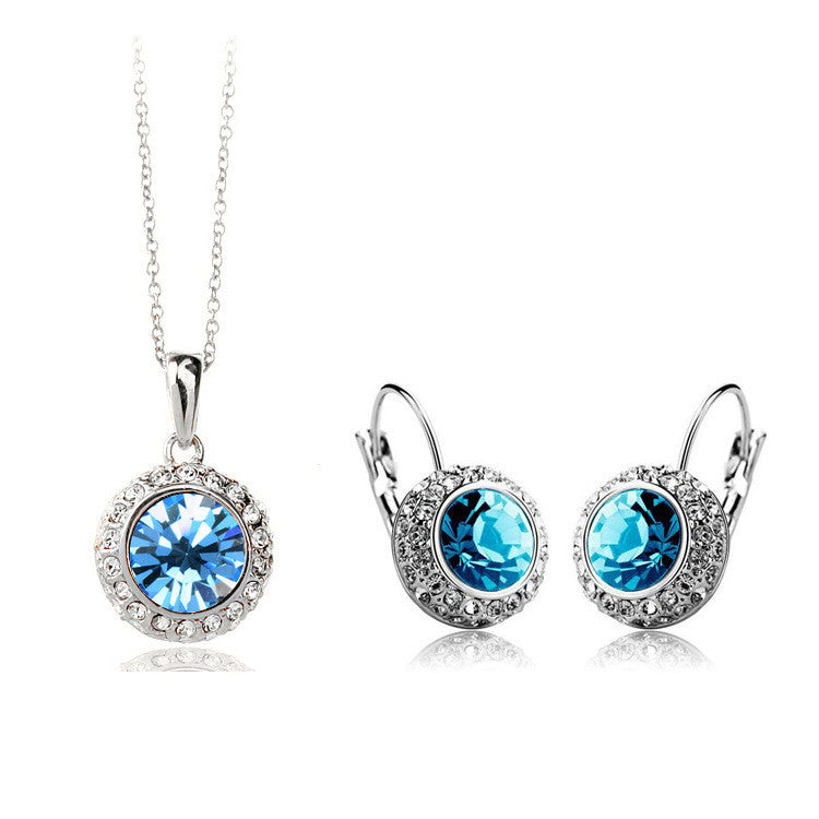Austrian Crystal Necklace Set DLT - 786shop4you