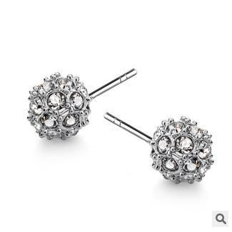 Multicolour Crystal Ball Earring - 786shop4you