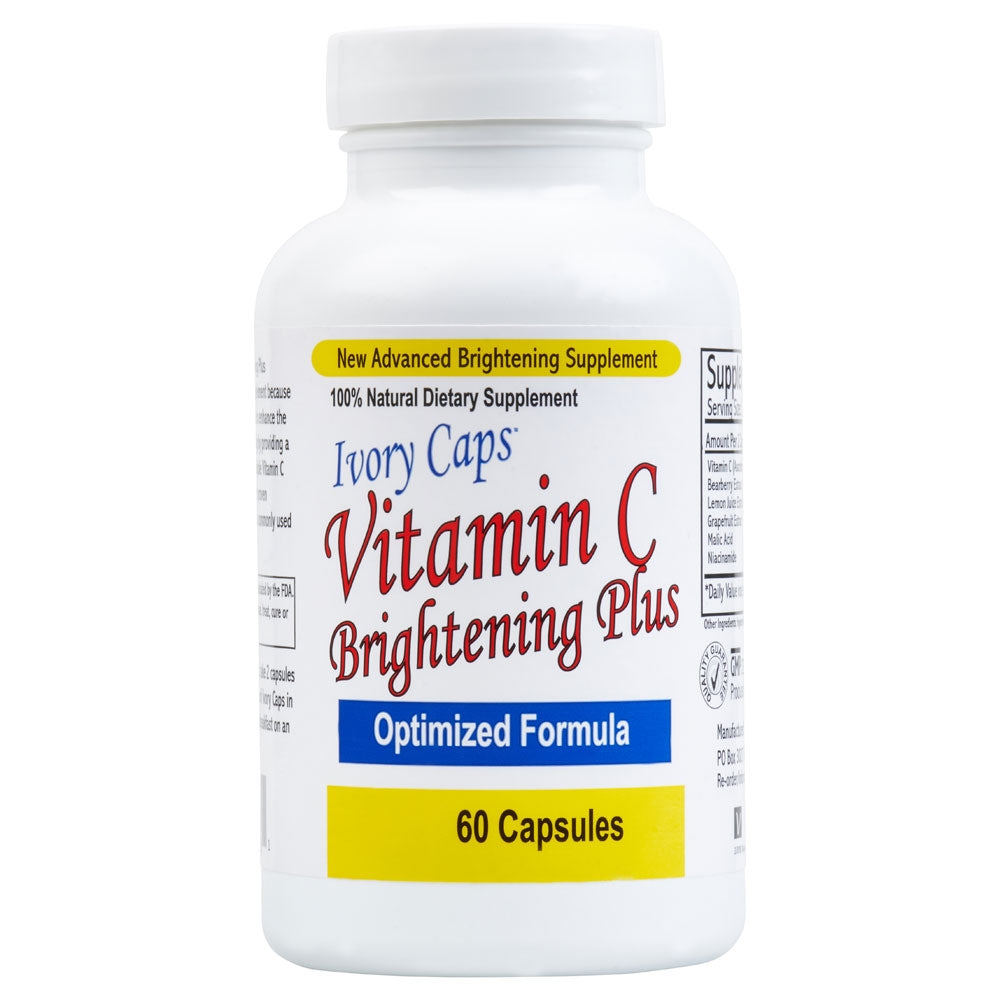 Ivory Caps Vitamin C Brightening Plus  ~ 60 Capsules - 786shop4you